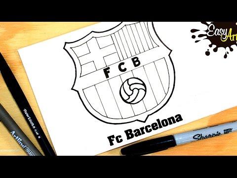 Como dibujar el escudo del Barça
