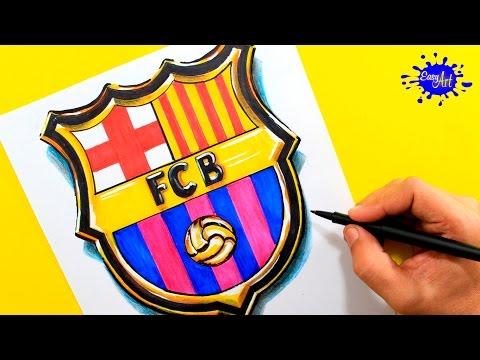 Como dibujar el escudo del FC Barcelona