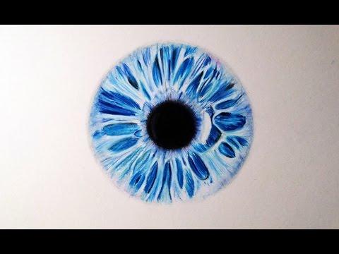 Como dibujar el Iris de un Ojo