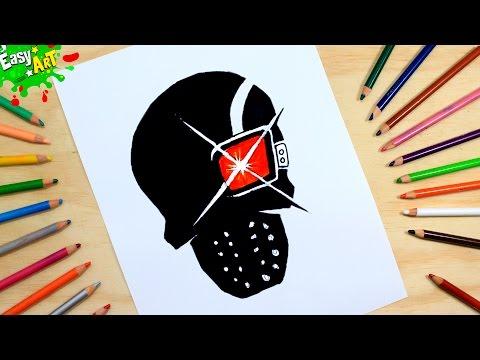 Como dibujar el Logo de Deadshot de El Escuadrón Suicida