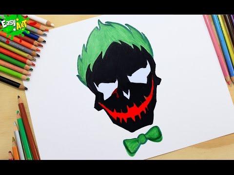Como dibujar el Logo de El Jóker de El Escuadrón Suicida