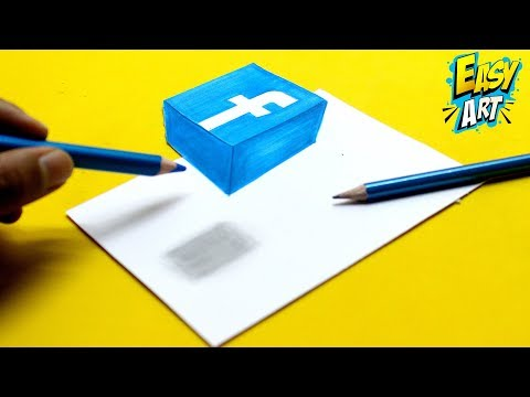 Como dibujar el Logo de Facebook en 3D