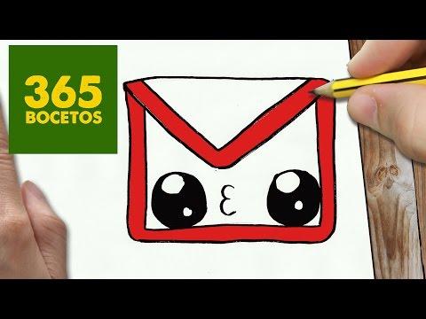 Como dibujar el logo de gmail kawaii
