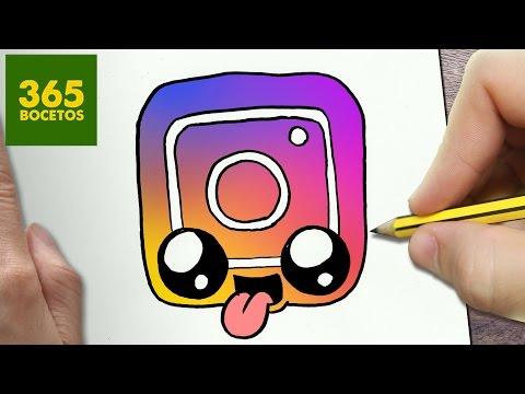 Como dibujar el Logo de Instagram Kawaii