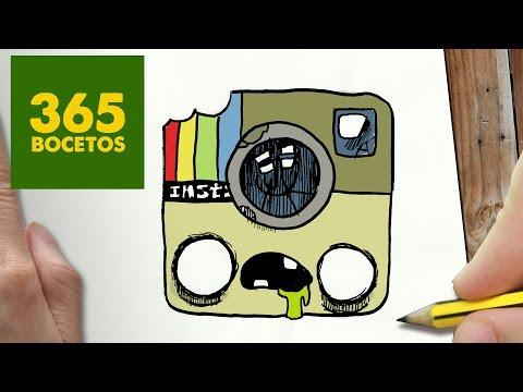 Como dibujar el Logo de Instagram Zombie