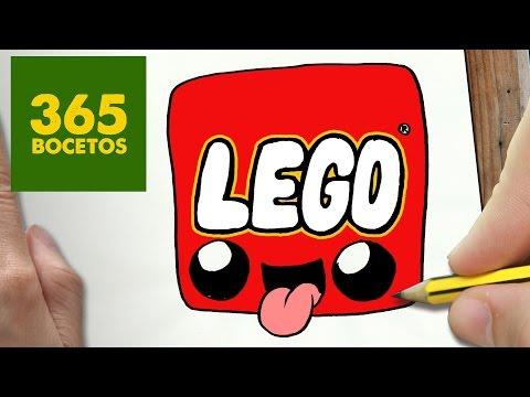 Como dibujar el Logo de Lego kawaii