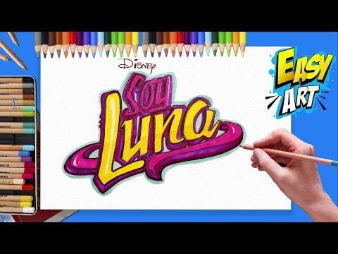 Como dibujar el Logo de Soy Luna