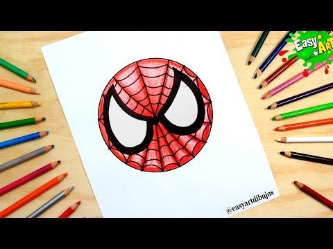 Como dibujar el Logo de Spiderman