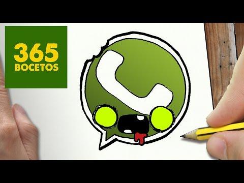 Como dibujar el logo de Whatsapp Zombie