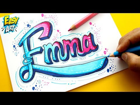 como dibujar a partir de un nombre