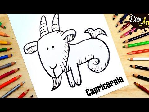Como dibujar el zodiaco Capricornio