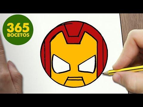 Como dibujar emoticono Ironman