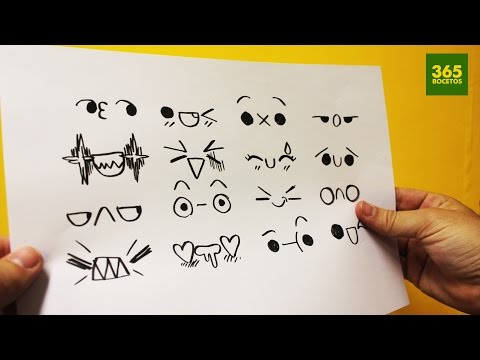 Como dibujar expresiones kawaii 3