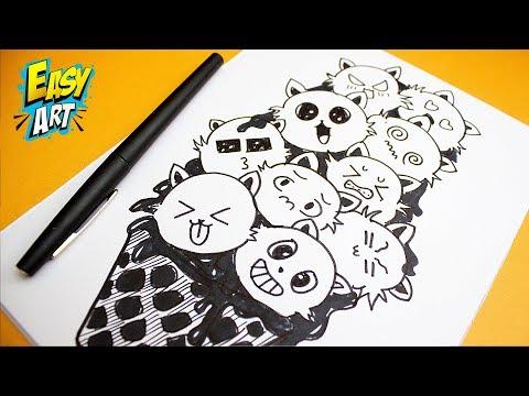 Como dibujar expresiones Kawaii fácil