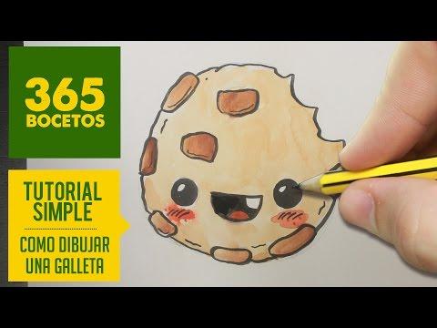 Como dibujar galleta kawaii