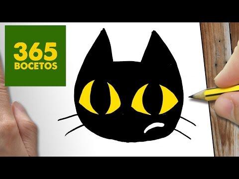 Como dibujar gato negro
