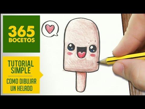 Como dibujar helado enamorado