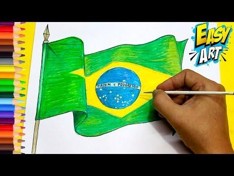 Como dibujar la Bandera de Brasil