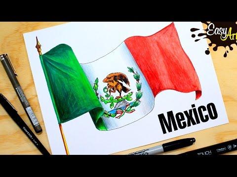 Como dibujar la bandera de México