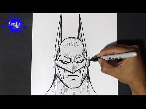 Como dibujar la cara de Batman