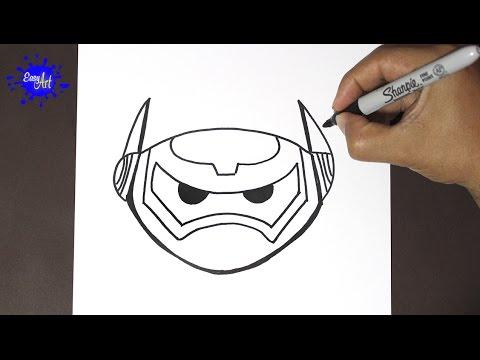 Como dibujar la cara de Baymax