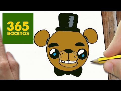 como dibujar la cara de Freddy de FNAF