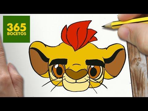 Como dibujar la cara de Kion