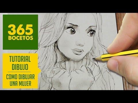 Como dibujar la cara de una chica