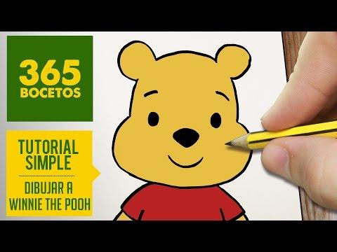 Como dibujar la cara de Winnie the Pooh