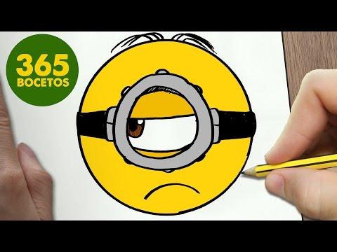 Como dibujar la cara del Minion Stuart
