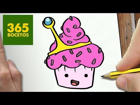 Como dibujar la Cupcake de la Princesa Chicle de Hora de Aventuras