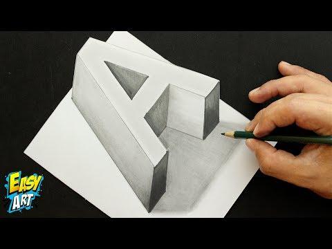 Como dibujar la letra A con efecto 3D