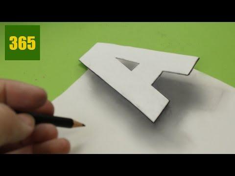 Como dibujar la Letra A en 3D