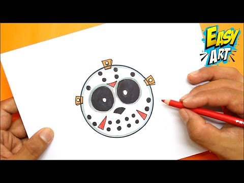 Como dibujar la Máscara de Jason para Halloween