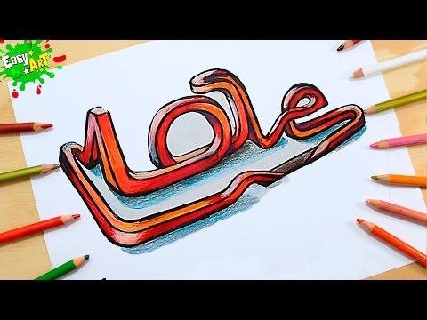 Como dibujar la palabra Love con volumen