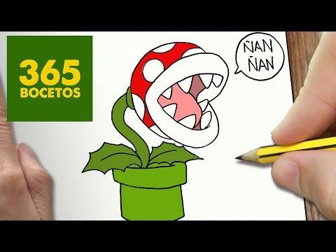 Como Dibujar La Planta Pirana De Mario Bros