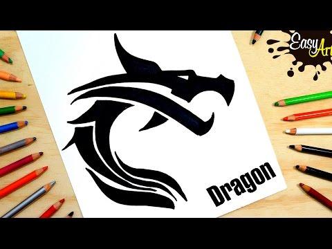 Como dibujar la silueta de un Dragón