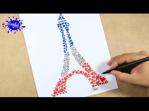 Como dibujar la Torre Eiffel