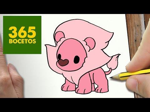 Como dibujar león Steven Universe