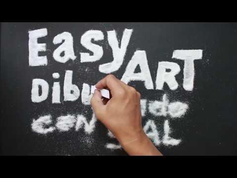 Como dibujar letras con sal fácil
