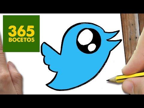 Como Dibujar logo de twitter súper fácil
