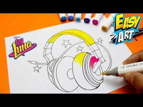 Como dibujar los Auriculares de Soy Luna