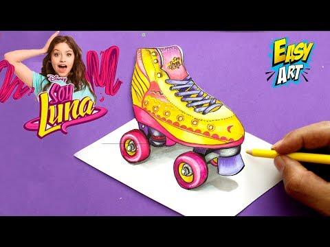 Como dibujar los patines de Soy Luna 3