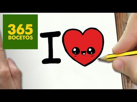 Como dibujar love kawaii
