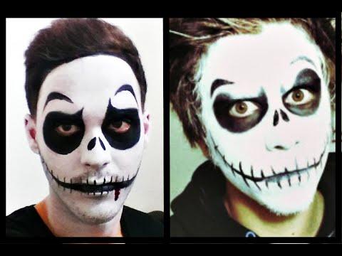 Como dibujar Maquillaje de carnaval de calavera