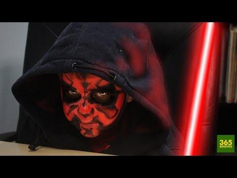 Como dibujar Maquillaje de Darth Maul de Star Wars