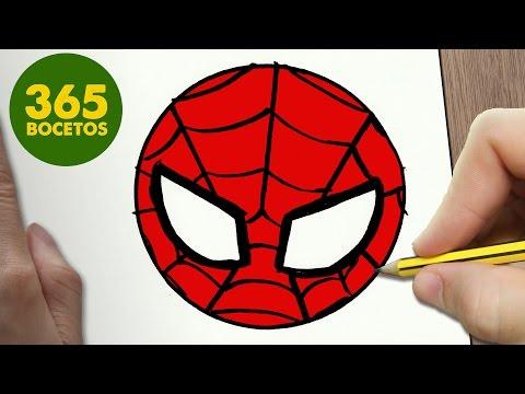 Como dibujar máscara de Spiderman fácil