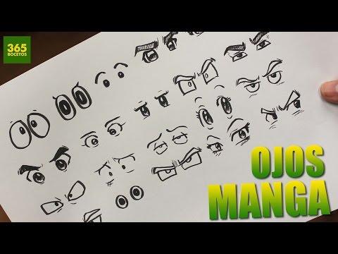 Como dibujar ojos anime