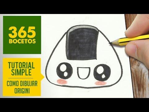 Como dibujar Onigiri kawaii