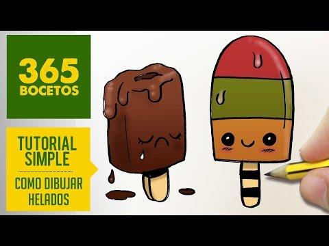 Como dibujar paletas heladas kawaii